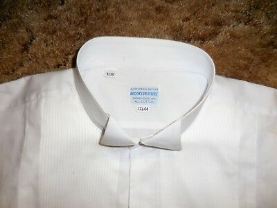 Brooks Brothers Cotton Wing Collar Formal Shirt 17 34 (Actual Measurements)