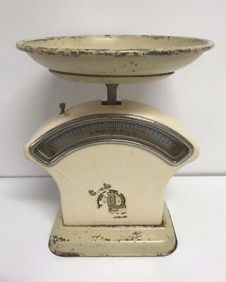 ** VINTAGE ANTIQUE ** Rustic PERSINWARE KITCHEN SCALES - Ounces and Pounds