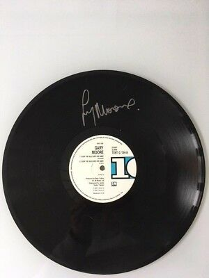 "Gary Moore Hand Signed Autographed 12"" Vinyl Record - Over The Hills - Rock"