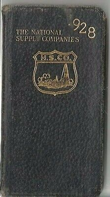 Pc - 1928 National Supply Co Daily Pocket Planner -