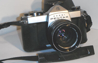 ASAHI PENTAX SP500 Vintage Camera with CARL ZEISS JENA 1.8/50 lens & Case