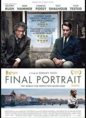Final Portrait Admit 2 Cinema Ticket Movie Pass