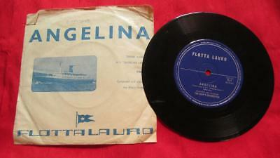 1920-1987 Flotta Lauro (Lauro Lines) M.V. Angelina Lauro Theme Song on 45 Record