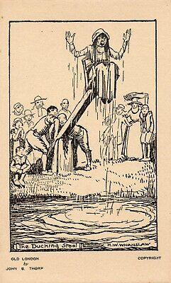 Vintage Postcard - Old London - Punishments Of The Past - The Ducking Stool