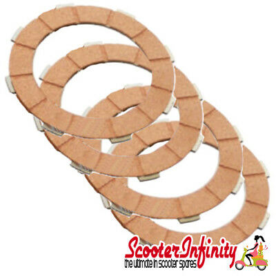Clutch Plate Kit (3 Corks & Steels) Vespa PX200 E & EFL, Rally 180-200, T5