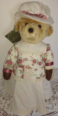 Merrythought Dressed Mohair Edwardian Lady Teddy Bear For Harrods - 17""