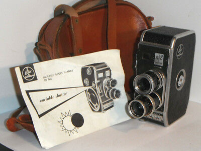 Swiss BOLEX PAILLARD B8 8mm Cine Camera with Case and Instruction Leaflet