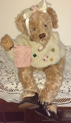 "Seraphina 17"" Mohair Artist Bear By Barbara's Originals, Usa"