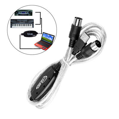 MIDI USB Cable Converter Line Keyboard Music PC Editing Sound Card Cables Pop