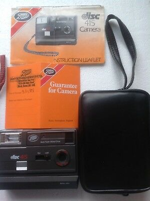 Boots 415 disc camera with case - 1985 collectors item