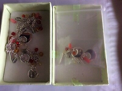 Ortak sterling silver and pendant and earrings set Ines without tags