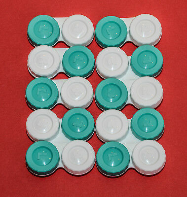 10 High Quality FLAT Contact Lens Case Travel FREE PP Made in the UK FC10