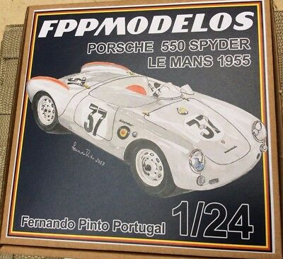 PORSCHE 550 Spyder 4th Le Mans 1955 FPPM 1/24 unassembled model kit Frankenberg