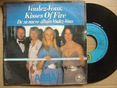 ABBA voluz-vous / kisses of fire SPAIN 45 CARNABY 1979