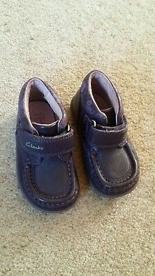 Clarks Girls First Boots Size 4.5G 20.5W. Hardly used. Velcro fastening