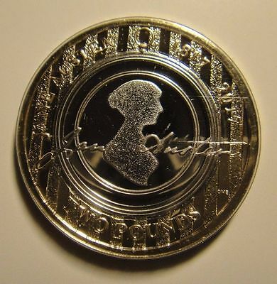 Jane Austen  £2 Pound 2017 Coin  Uncirculated And Mint Condition