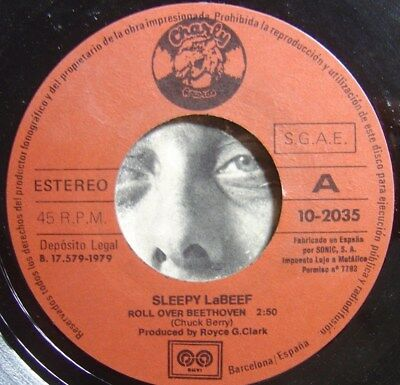 SLEEPY LaBEEF rock and roll beethoven / send me SPAIN 45 CHARLY 1979 ROCKABILLY