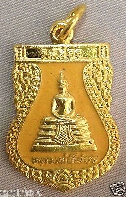 Thai Buddha Amulet Phra Lp Sothorn Yellow Lucky Success Powerful Vintage BE 2540