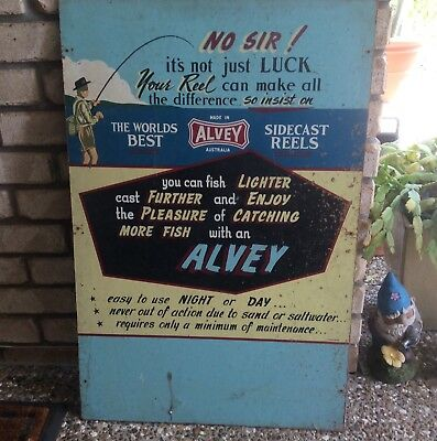 Alvey Large Vintage Advertising Board Hand Painted