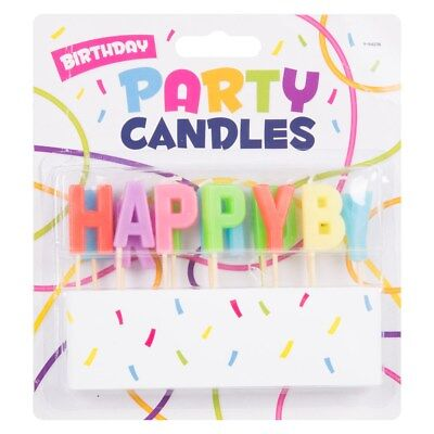 13pc Happy Birthday Candle Set Cake Celebration Party Decoration Coloured Letter