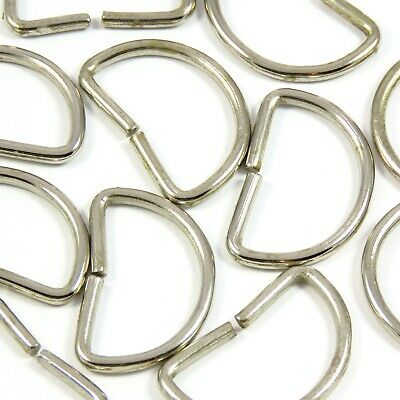 30mm 1 1/4 in. Brass or Chrome Metal D-Ring for Straps Bag Making Leathercraft