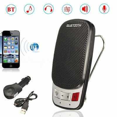 Car Sun Visor Wireless Handsfree Multipoint Bluetooth Speakerphone Speaker Kit