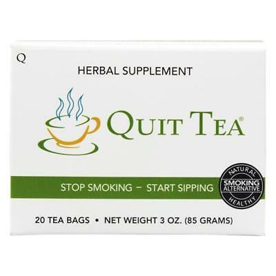 NEW Quit Tea 6TKSzh1 Stop Smoking Aid Tea Bags 20ct Natural Healthy Herbal