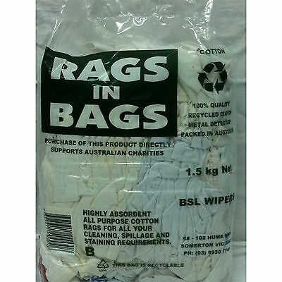 2xBag Of White Rags 1.5kg. Sydney Fast Shipping