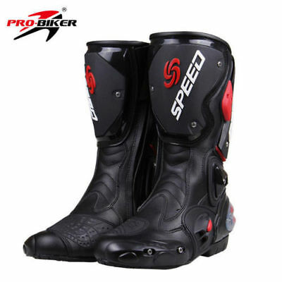 Leather Men's Motorcross Off-Road Racing Boots Wear-resistant Motorcycle Shoes