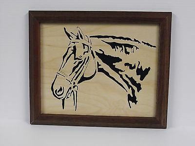 Handcrafted Framed Horse Head Silhouette
