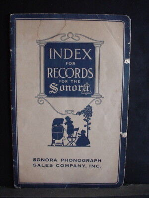 Index for Records for the Sonora Gramophone Phonograph Sales Co. Booklet - C1-14