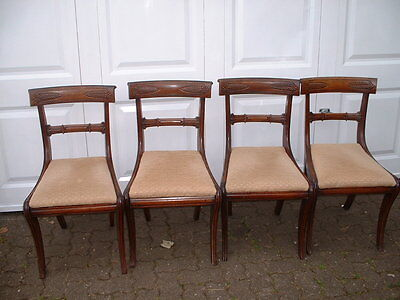 Set 4 William iv Mahogany  Dining Chairs