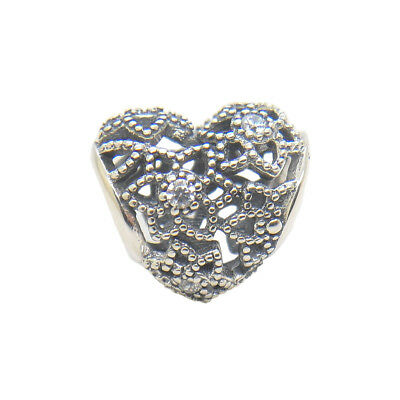 9670e973f Startfirst Authentic Sterling Silver Blooming Heart Clear CZ Bead 2017 New