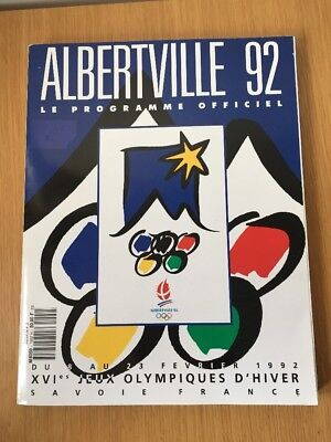 Albertville 1992 Le Programme Officiel (Olympic) Book Winter Olympics