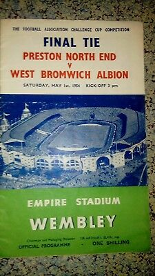 1954 Fa Cup Final : Preston North End V West Bromwich Albion Wba Pne Wembley