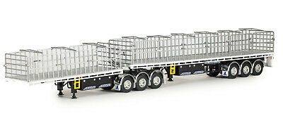 Drake AUSTRALIAN K200 Truck+ Drake 2x8 Dolly 4x8 Trailer Black  Scale 1:50
