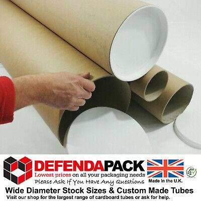 "2 x 1.5m 1500mm 59"" LONG x 8"" 203.2mm Extra Wide DIAMETER Strong Postal Tubes"