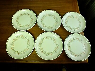 B.h.s. Country Garland Dinner Plates X 6
