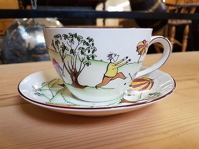 Crown Staffordshire Golf Cup and Saucer