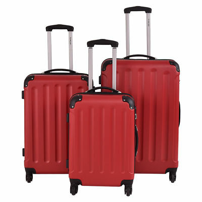 3Pcs Luggage Travel Set Bag w/TSA Lock ABS Trolley Spinner Carry On Suitcase A66