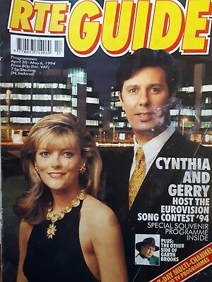 RTE GUIDE 1994 - Eurovision Song contest.