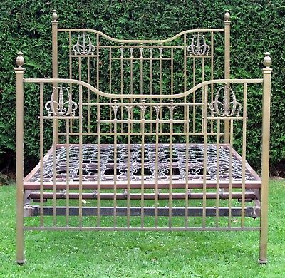 Beautiful Victorian Brass with iron Standard Double Bed with Sprung Base