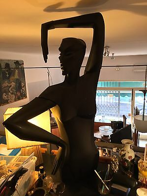 Old Stylized Mannequin In Resin Glass