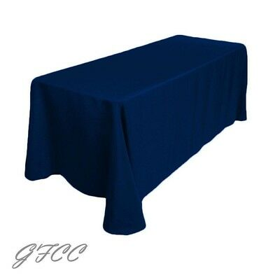 GFCC 90 x 156 -inch Navy Blue Polyester Tablecloth