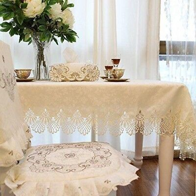 FADFAY Home Textile,Designer Off White Lace Tablecloth,Delicate Floral...