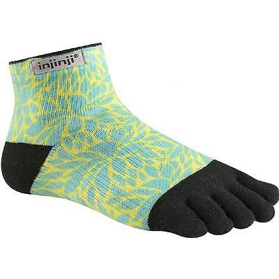 Injinji Socks Run Lightweight Mini Crew Running Socks Fern Womens