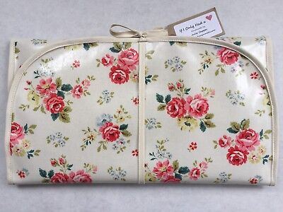Cath Kidston Handmade 'Field Rose' Wipe Clean Oilcloth  Baby Changing Mat