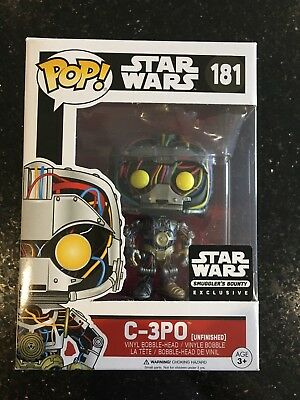 Funko POP - Star Wars - C-3PO Unfinished - 181 - Smugglers Bounty Exclusive