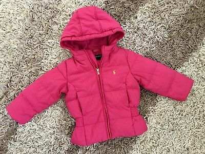 Polo Ralph Lauren Girl Bright Pink Coat Age 2 Years