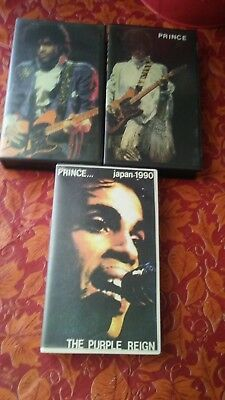 Rare Prince Vhs Bootlegs  Lot Of 3 Concert Videos
